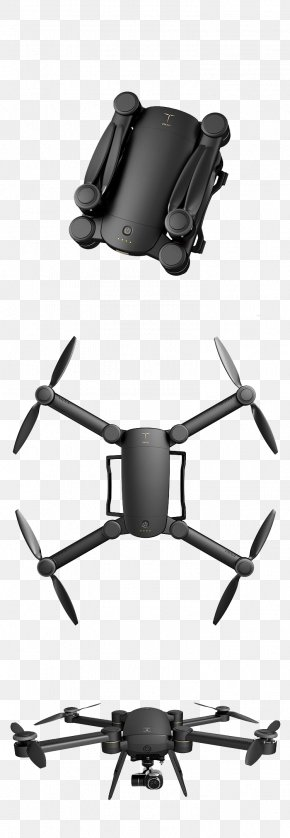 UAV - Unmanned Aerial Vehicle Quadcopter 4K Resolution Camera Gimbal PNG