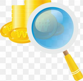 Coin Magnifying Glass Material - Magnifying Glass Icon PNG