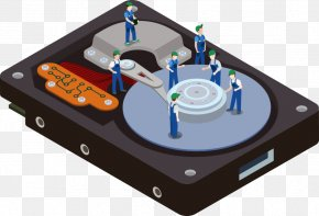 Vector Hard Disk Repair - Hard Disk Drive Euclidean Vector Computer File PNG