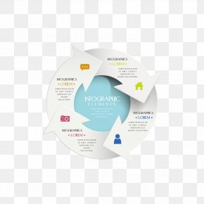 Infographic Vector Rotation Arrow - Infographic Chart Rotation Arrow PNG