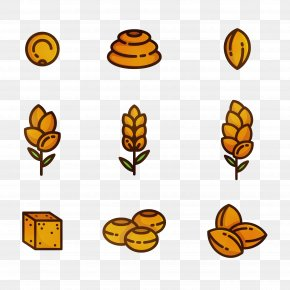 Honeybee Food Group - Yellow Leaf Plant Icon Food Group PNG