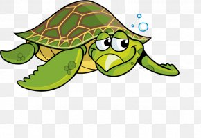 Cartoon Turtle Green Sea Turtle - Sea Turtle Tortoise Cartoon Clip Art PNG