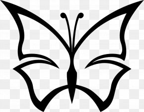Kenzi Cliparts - Butterfly Black And White Drawing Clip Art PNG