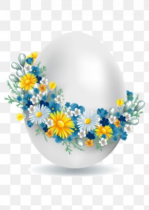 Hand-painted Eggs - Easter Postcard Greeting & Note Cards Clip Art PNG
