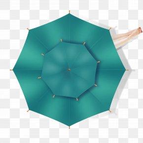 Umbrella - Umbrella Symmetry Green Pattern PNG