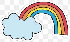 Vector Hand-painted Rainbow - Rainbow Euclidean Vector Clip Art PNG