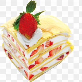Strawberry Chocolate Cake Cream Sandwich - Cream Omelette Chocolate Cake Fried Egg Layer Cake PNG