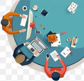 Vector Cartoon Figures Of Office - Creativity Flat Design Creative Services PNG