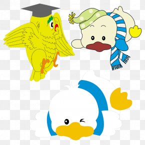 Birds And Ducks - Donald Duck Cartoon Illustration PNG