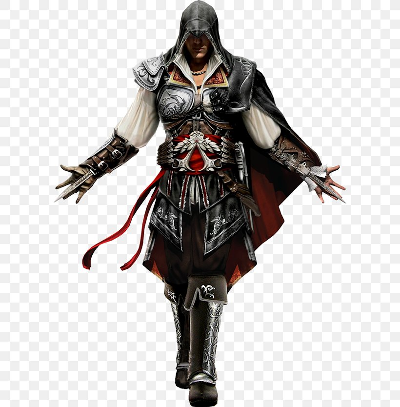 Assassin's Creed III Assassin's Creed: Brotherhood Assassin's Creed: Revelations, PNG, 600x834px, Ezio Auditore, Action Figure, Armour, Assassins, Costume Download Free
