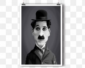 Charlie Chaplin - Charlie Chaplin The Kid Tramp Art Poster PNG