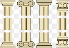 Grey Column - Column Wall PNG