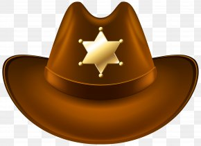 Cowboy Hat With Sheriff Badge Transparent Clip Art Image - Cowboy Hat Clip Art PNG
