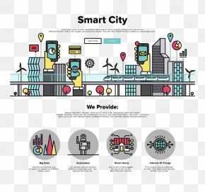 Smart City Vector Material - Smart City Graphic Design Illustration PNG