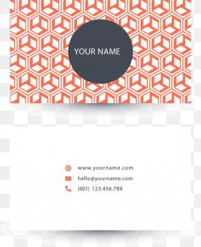 Vector Geometric Cube Business Card - Business Card Geometry Logo PNG