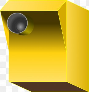 Yellow Box Camera - Video Cameras Photography Clip Art PNG