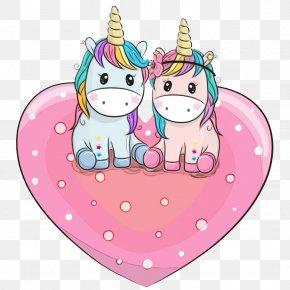 Love Heart - Cartoon Pink Heart Love PNG