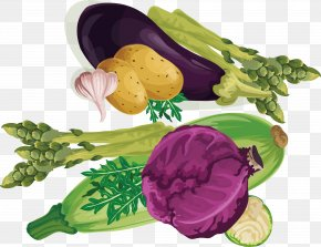 Purple Cabbage - Leaf Vegetable Purple Vegetarian Cuisine PNG