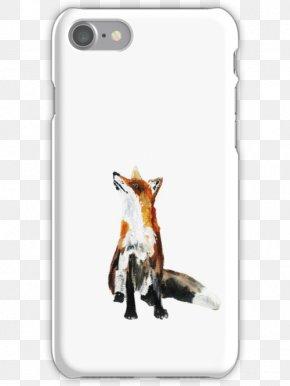 Fox Watercolor - Red Fox Mr. Fox Art Printmaking PNG