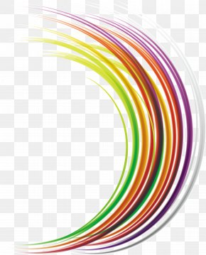 Colorful Lines - Drawing Line Art Illustration PNG