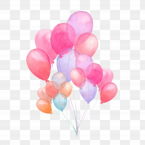 Hand-painted Watercolor Balloon Illustration - Balloon Watercolor Painting Stock Illustration Illustration PNG