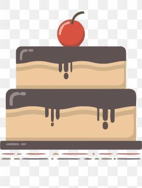 Double Cherry Chocolate Cake Vector Material - Hamburger Doughnut Chocolate Cake Cupcake Muffin PNG