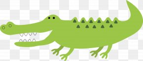 Green Crocodile Vector - Crocodile Alligator Green Jaw PNG