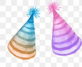 Watercolor Birthday Hat - Hat Birthday PNG