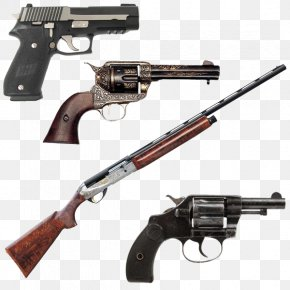 Firearms - Western United States Colt Single Action Army Revolver Pistol Gun PNG