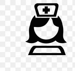Black And White Cartoon Nurse Head Logo - Nursing Apple Icon Image Format Icon PNG
