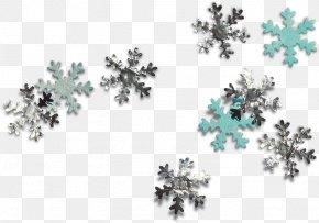Silver Snowflake - Snowflake Schema Christmas PNG