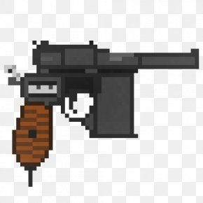 Pixel Gun - Firearm Pixel Art Mauser C96 Pistol PNG