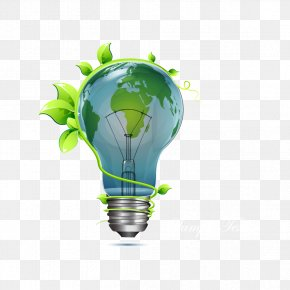 Vector Leaves And Bulbs - Harry And Co. Energy Conservation ITM Lucknow Solar Energy PNG