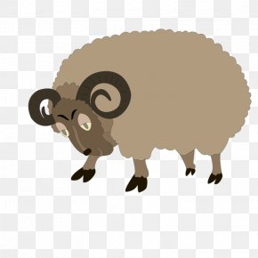 Brown Goat - Sheep Goat Drawing Clip Art PNG
