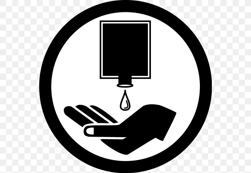 Hand Washing Hygiene Hand Sanitizer Clip Art, PNG, 564x564px, Hand Washing, Area, Arm, Black, Black And White Download Free