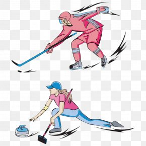 Cartoon Character Hockey - Ice Hockey Winter Olympic Games Curling Ice Skating PNG