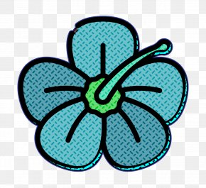Teal Turquoise - Tropical Icon Flower Icon PNG