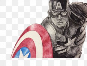 Captain America Hand-painted Patterns - Captain America Drawing Cartoon Painting Illustration PNG