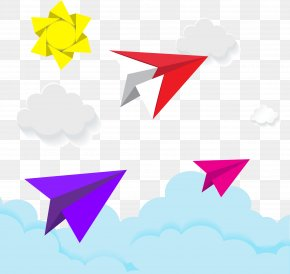 Vector Cartoon Paper Plane - Paper Plane Airplane Clip Art PNG