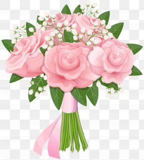 Pink Rose Bouquet Free Clip Art Image - Flower Bouquet Rose Pink Clip Art PNG