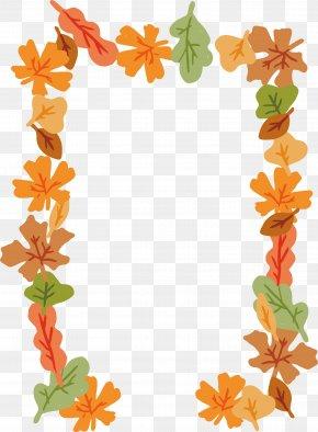 Cartoon Decorative Frame For Falling Leaves - Leaf Euclidean Vector Computer File PNG