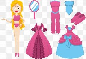 Vector Doll Dress Up - Barbie Doll Dress Clip Art PNG