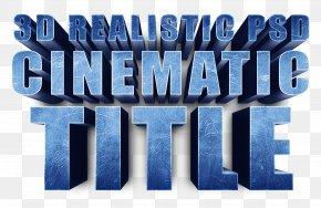 3D Fonts - Brand Logo Blue Font PNG