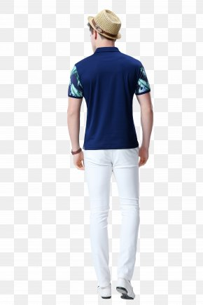 Wearing A Hat Casual Men Back - T-shirt Clothing Hat Casual PNG