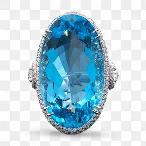 Aquamarine Diamond Ring - Sapphire Ring Gemstone Diamond Carat PNG