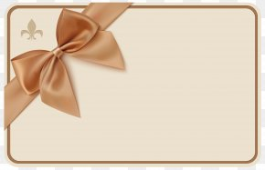 Label With Bow Clipart Image - Voucher Ribbon Coupon Gift PNG