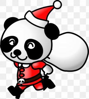 Funny Turkey Clipart - Santa Claus Giant Panda Christmas Clip Art PNG