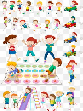 Vector Kids Playing Games - Child Royalty-free Play Illustration PNG