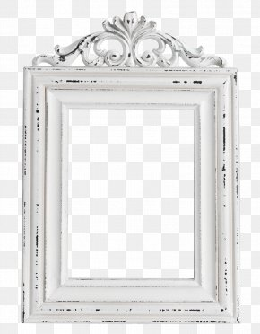 White Europe And The United States Retro Frame Material Free To Pull - Picture Frame Drawing PNG