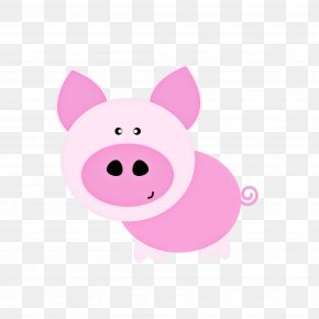 Animation Livestock - Pink Cartoon Nose Snout Suidae PNG